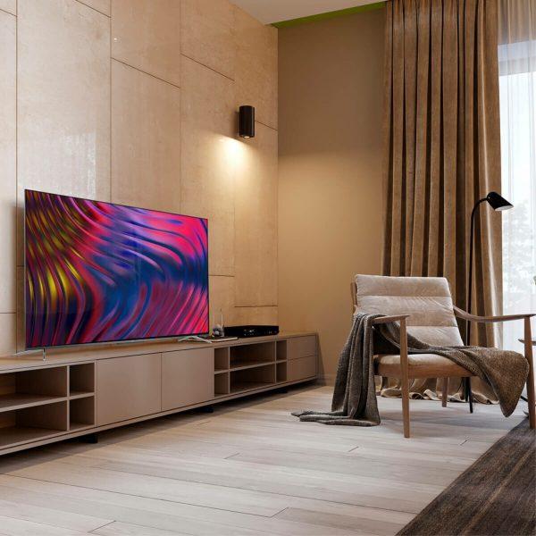 """TCL televizor 55P715, 55"""" (139 cm) LED, 4K Ultra HD, Android 9.0 , Srebreni"""