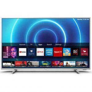 """PHILIPS televizor 58PUS7555, E-LED 58"""" (146cm), 4K Ultra HD, Smart, Srebreni"""